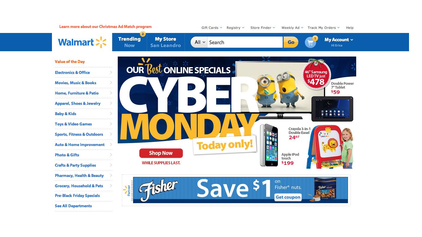 Cyber monday computer deals walmart