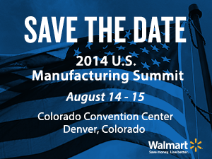 Save the Date: 2014 U.S. Manufacturing Summit Banner
