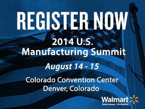 Register Now: 2014 U.S. Manufacturing Summit Banner