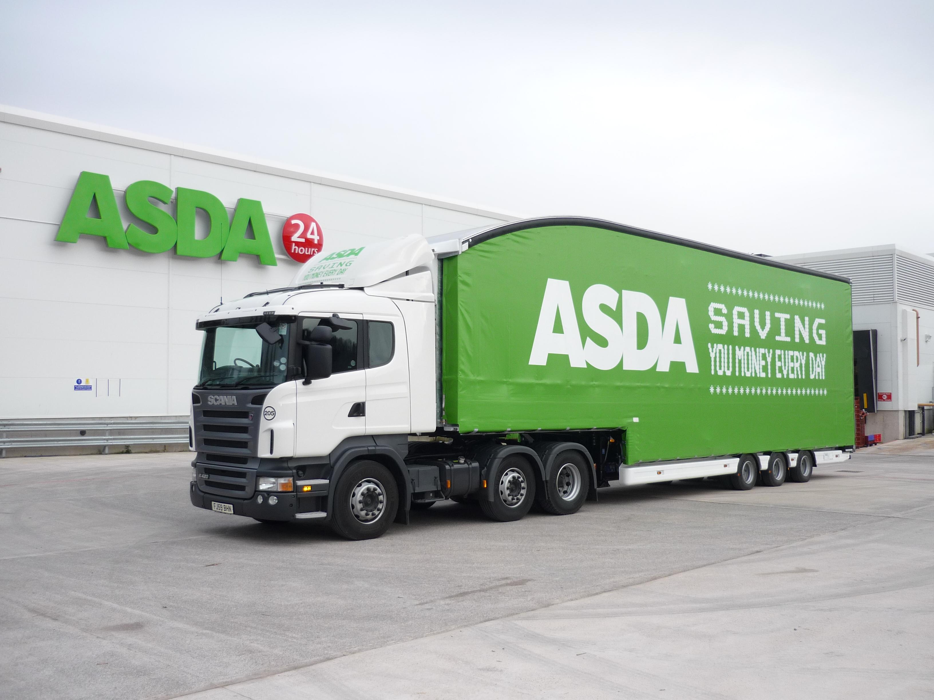 Asda United Kingdom truck