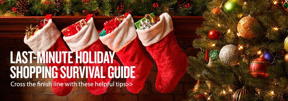Homepage banner - Last Minute Shopping Guide