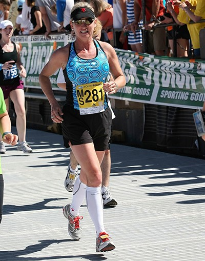 Susan Eastman Walton Running in Boulder, Colorado