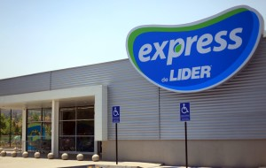 Outside view of an Express de Lider store in Chile