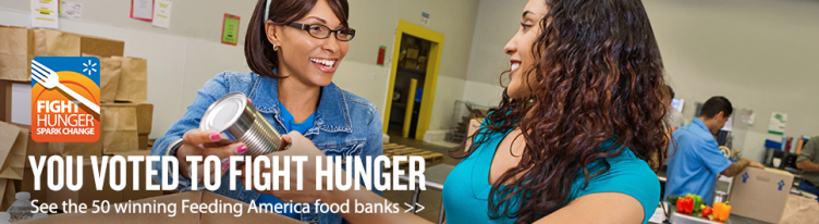 Fight Hunger. Spark Change. Winners announced banner