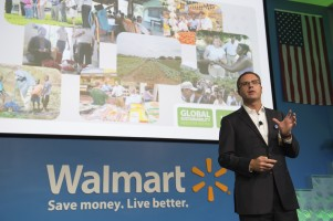Doug McMillon speaks at the 2014 Global Sustainability Milestone Meeting