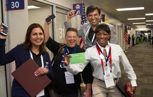 The Curries by Nature team celebrates at the 2017 Walmart U.S. Open Call event