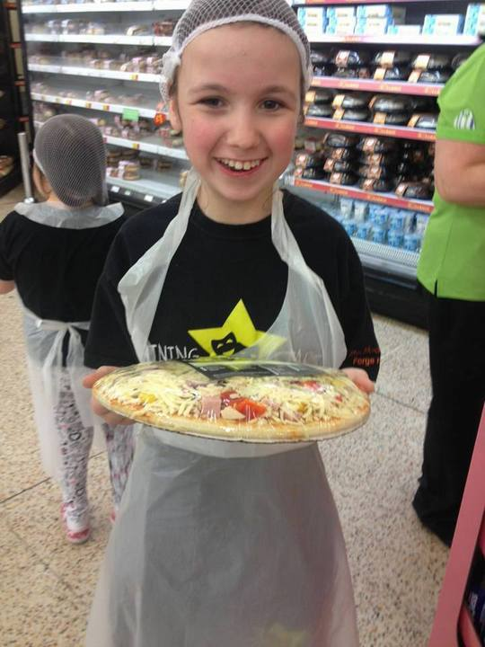 The children really enjoyed making the pizzas