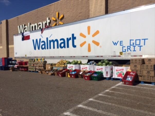 """Walmart Truck with """"We've Got Grit"""" written on it"""