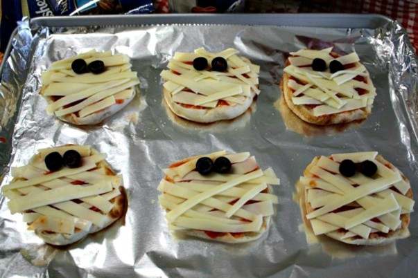 Mummy Face Pizzas - blog enhancement image