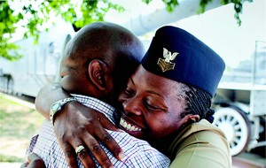 Veteran Military Female Hugging