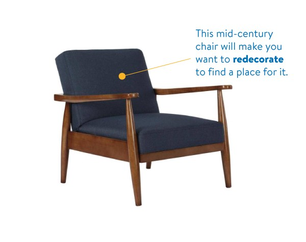 Better Homes and Gardens Mid Century Chair. Piloting Delivery with Uber  Lyft and Deliv