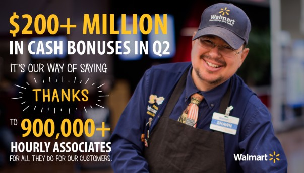 Walmart Associate Cash Bonus Twitter Graphic - Our Way of Saying Thanks