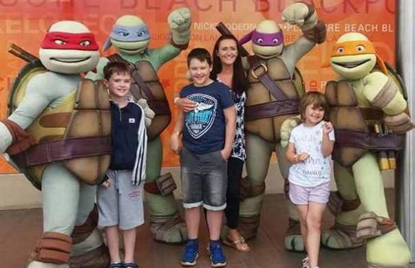 Debbie and her three children