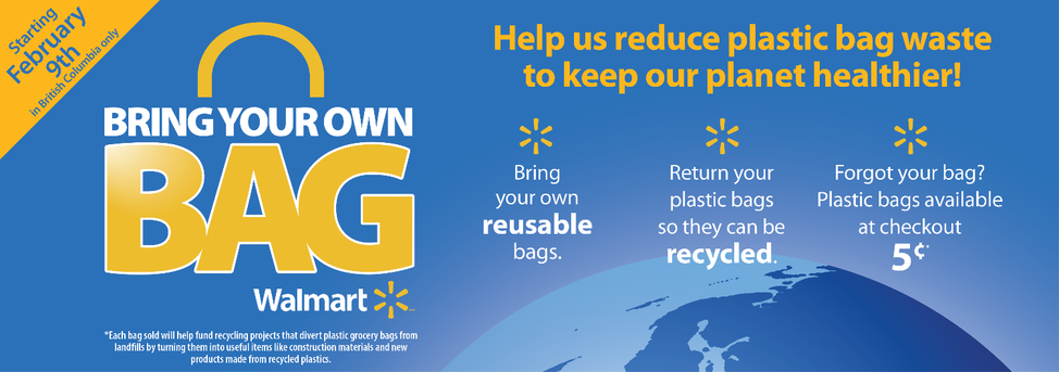 Walmart announces plastic bag reduction initiative