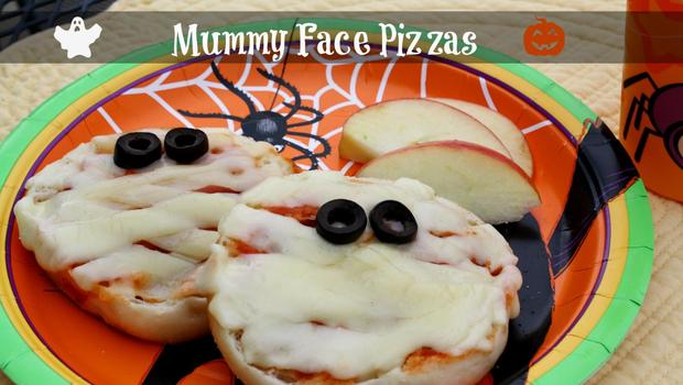 Mummy Face Pizzas - Blog Lead image