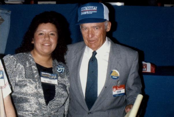 Noemi Flores with Mr. Sam Walton
