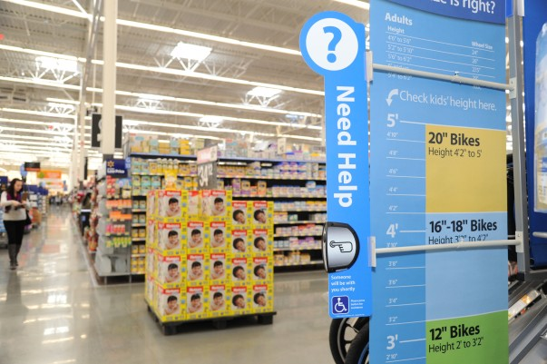 Walmart Supercenter reinvention test stores call buttons