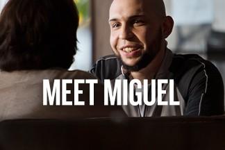 Walmart Associate Miguel Rivera smiles. Text reads: Meet Miguel