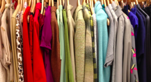 Colorful Womens Clothes on Hangers