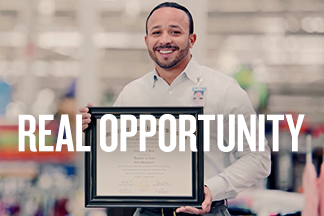 The Real Walmart homepage promo