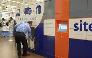 Walmart e-commerce fulfillment pickup at lockers in store