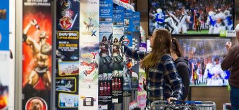 Walmart Customer Shops for Video Games