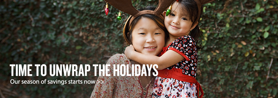 Unwrap the holidays homepage banner