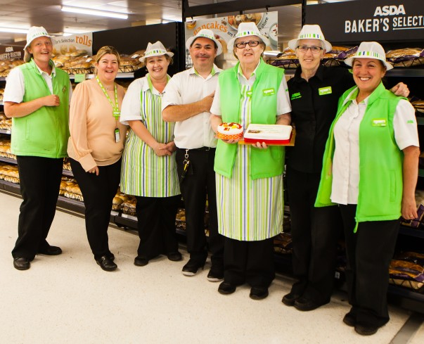 Bakery colleagues wish Pat a happy birthday