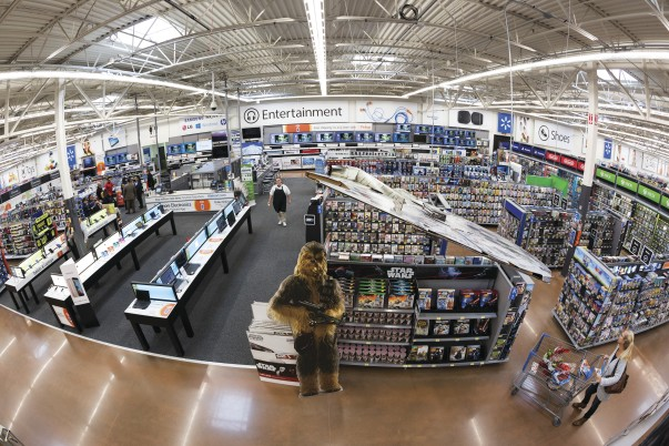 Electronics department in Walmart Supercenter 5260