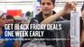 Pre-Black Friday homepage banner