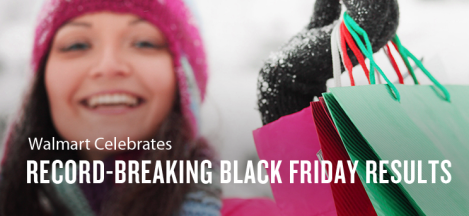 Record-breaking black friday results banner