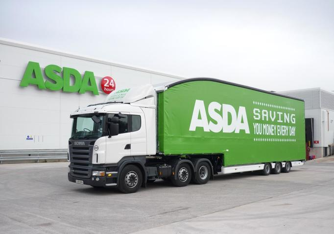 Asda United Kingdom truck