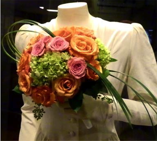 Flowers with Helen Walton's Wedding Dress