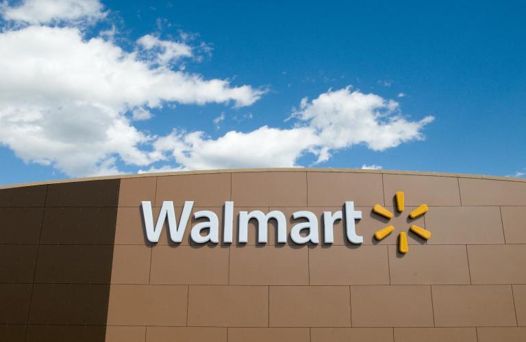 Walmart store front logo