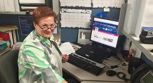 Associate Sherri Eiler at Her Desk