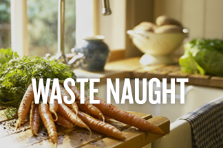 Waste Naught promo banner for Food Waste blog