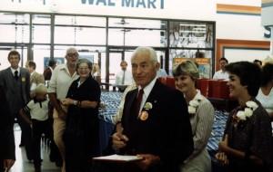 Sam Walton at store