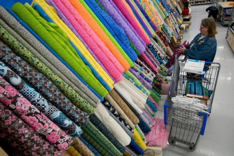 Walmart fabric department