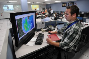 Walmart Emergency Operations Center prepares for Hurricane Sandy