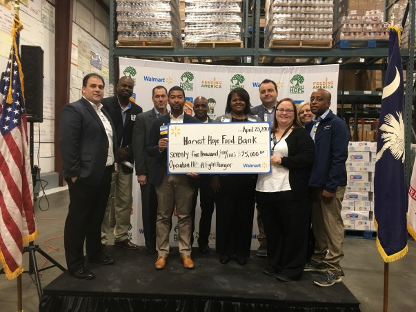 Harvest Hope Food Bank Check Presentation