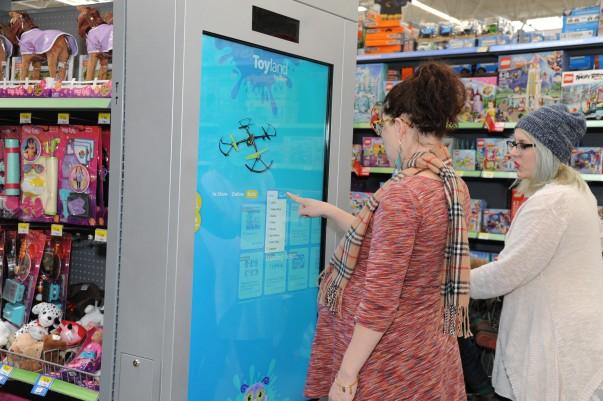 Walmart Supercenter reinvention test stores extended aisles