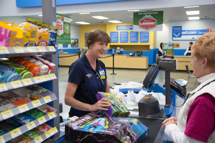 Walmart associate julie scans some of the hottest toys for the