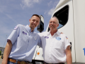 Father and Son Truck Drivers at Distribution Center in Marcy, New York