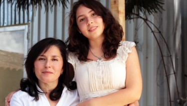 Leticia Hernandez and her daughter