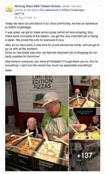 Shining Star's Facebook post