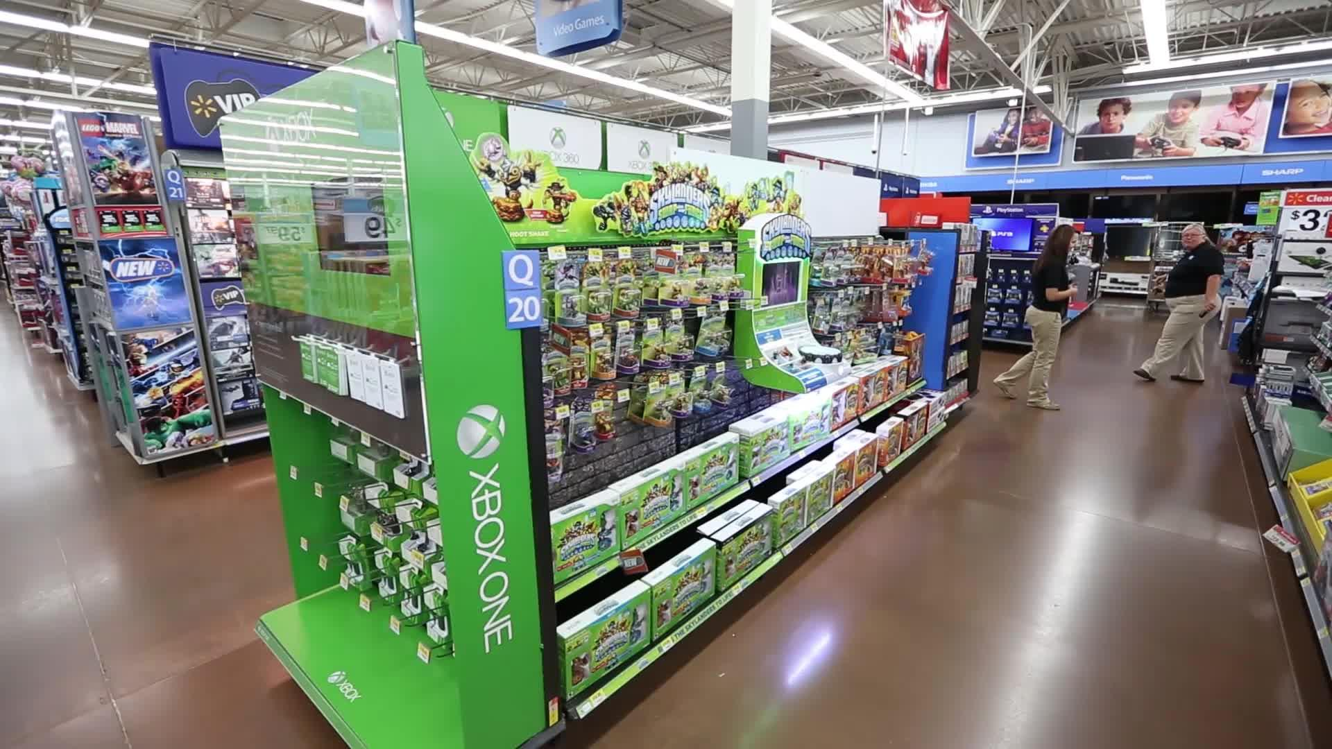 B Roll Gaming Area Updates At Walmart Timelapse