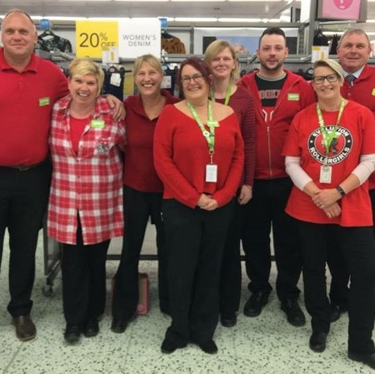 Asda Shrewsbury colleagues supporting Zac Oliver's appeal