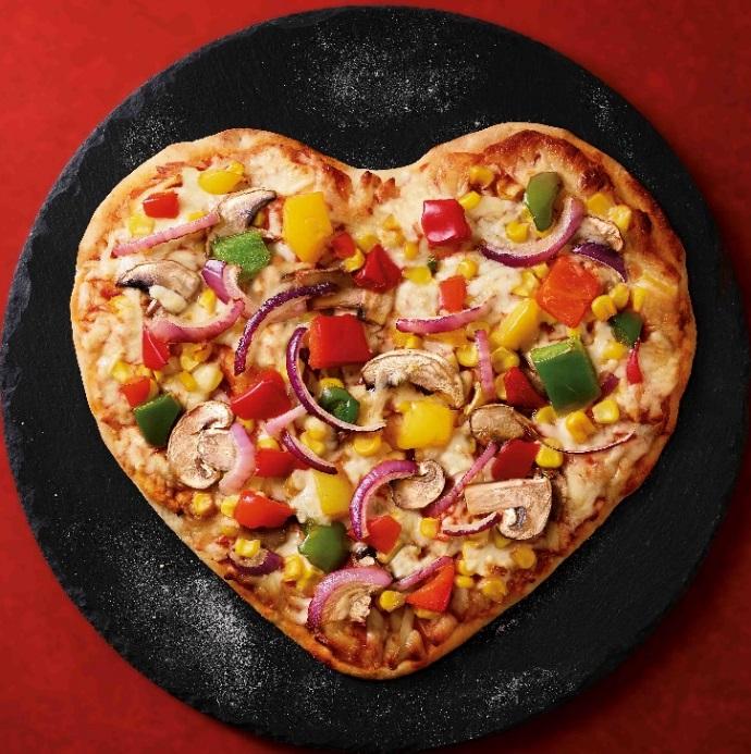 Valentine's Heart Pizza