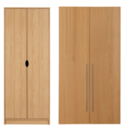 George Home Rupert 2 Door Oak Effect Wardrobe