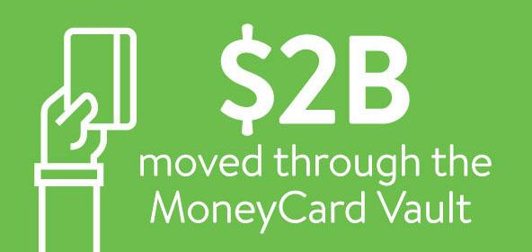 2 Billion Dollar MoneyCard Vault Graphic
